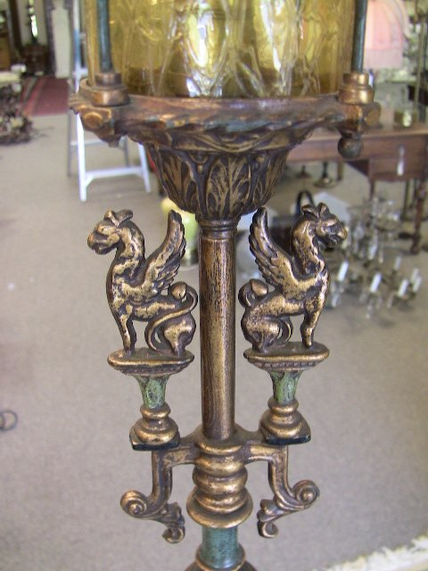 Antique Griffin Floor lamp