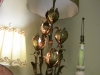 Gold Leaf Italian table lamp