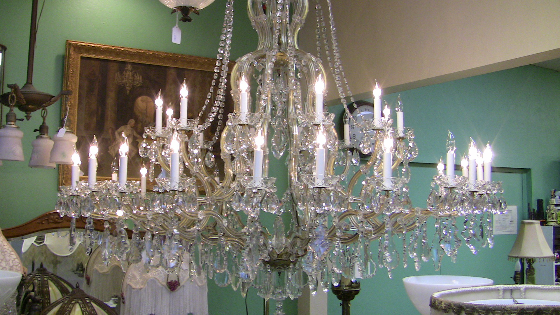 Italian maria theresa antique crystal chandelier the lighting palace italian maria theresa crystal antique crystal chandelier arubaitofo Images