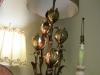 Gold Leaf Italian table lamp